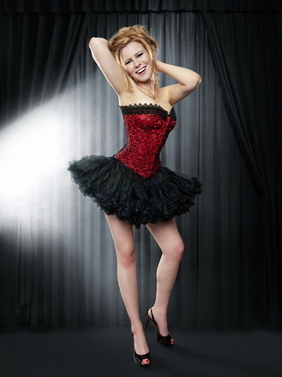 Red Satin and Black Lace Satin Overbust Corset - BEC512