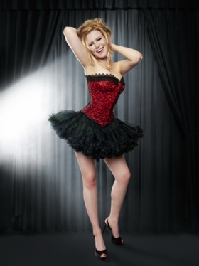 Red Satin and Black Lace Satin Overbust Corset